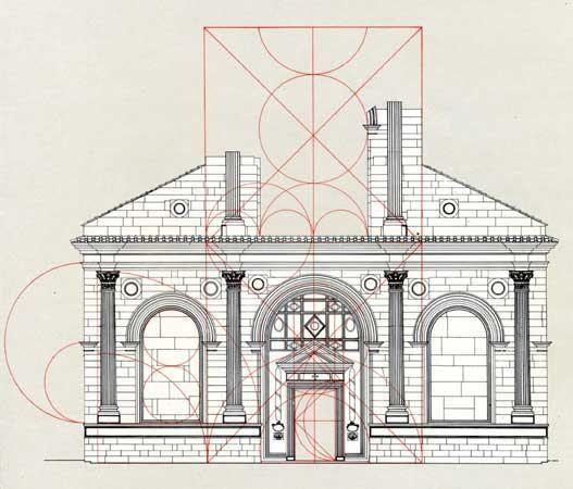 Facciata Del Tempio Malatestiano Di Rimini Su Disegno Di Leon