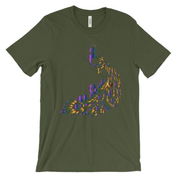Long Tailed Peacock - Men's Short Sleeve T-Shirt