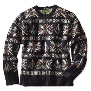 Amazon.com: Fair Isle Snowflake Lambswool Sweater: Clothing ...
