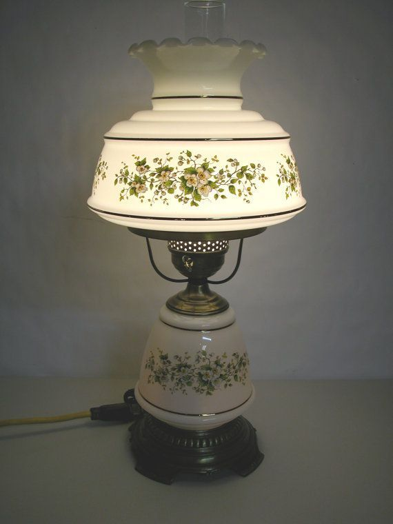 Vintage Hurricane Lamp 1978 QUOIZEL Electric GWTW By SweetiesAttic, $145.00