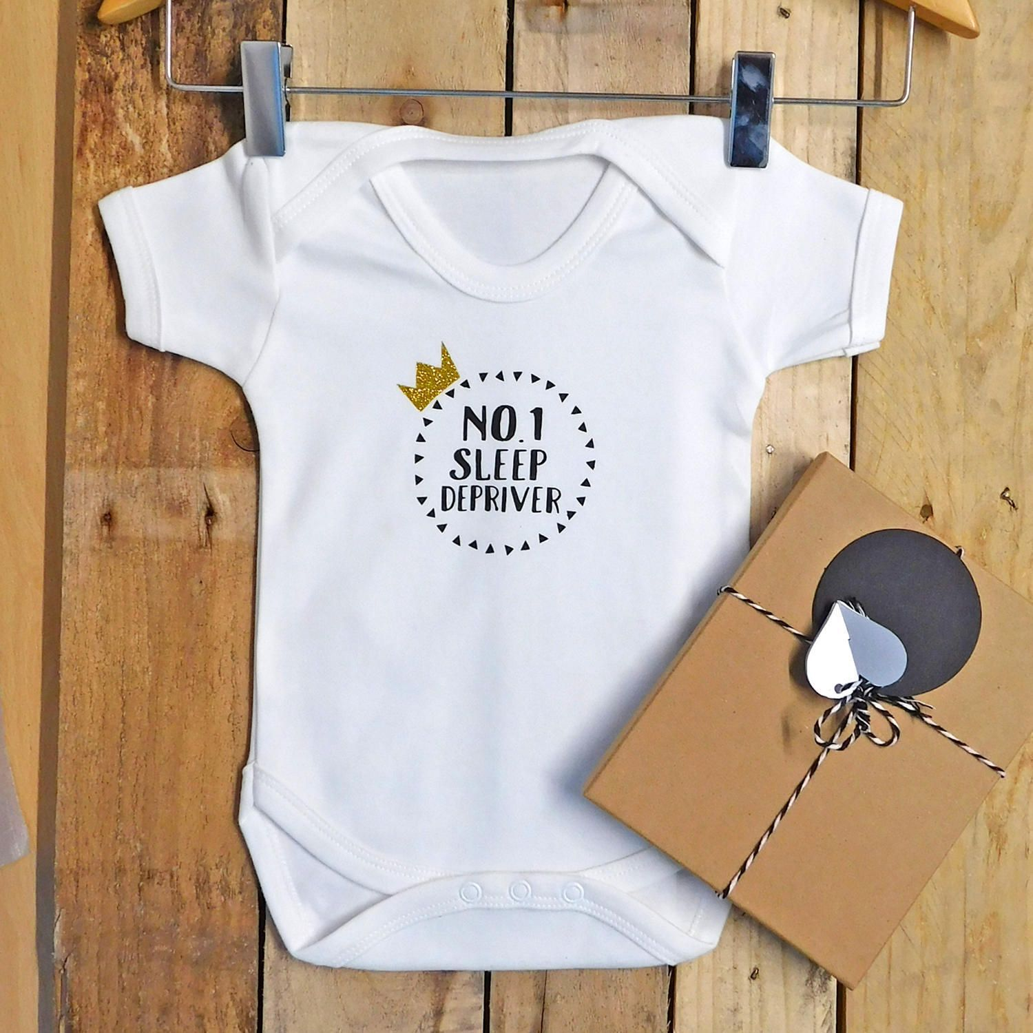 no1 sleep depriver unisex funny baby vest/ baby shower gift/ new