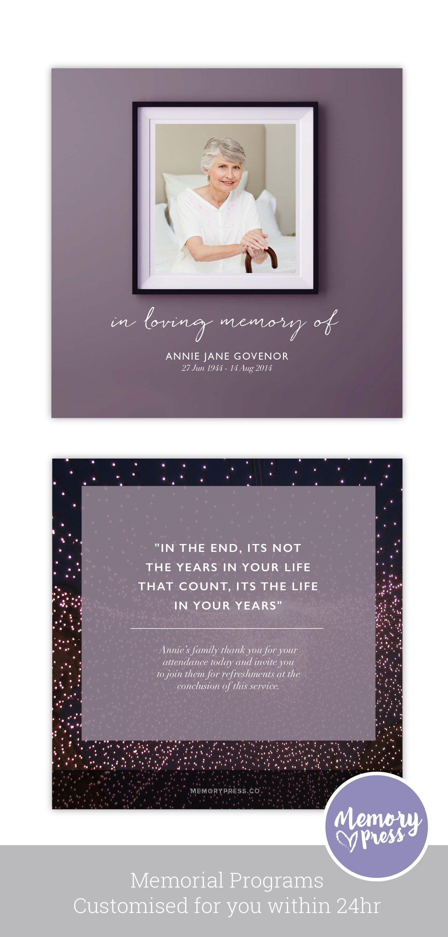 Dahlia Funeral Program Design Memorial Programs Pinterest
