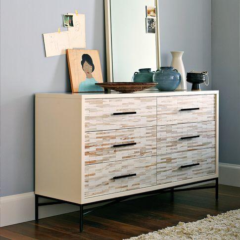Superieur Inspiration For An IKEA Malm Dresser Hack. Wood Tiled 6 Drawer Dresser |  West Elm