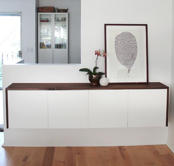 almost makes perfect 39 s fauxdenza is a pretty solution ikea ikea hacks. Black Bedroom Furniture Sets. Home Design Ideas