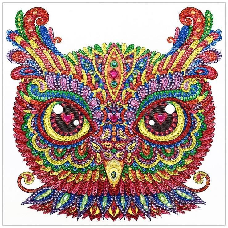 Partial Drill 5D Bird Diamond Painting Embroidery DIY Cross Stitch Kit Art Draw