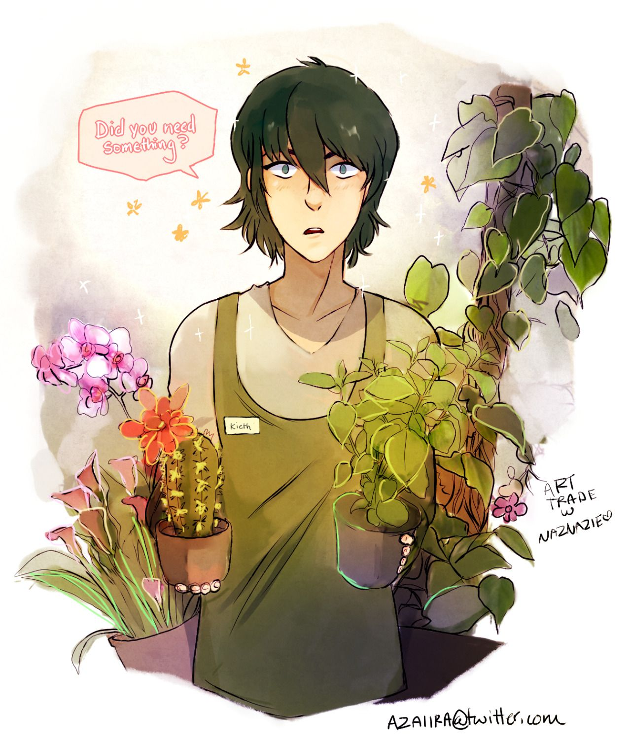 I like how keith could fit into flower shop aesthetic
