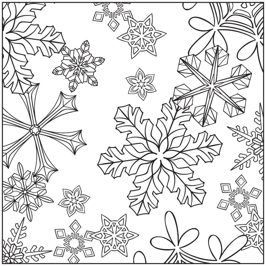 Winter Coloring Pages For Adults Snowflake Coloring Pages