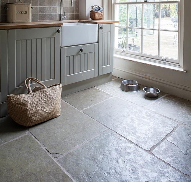 Really Love The Look Of This Floor For The Kitchen Jaipur Brushed Limestone From Mandarin Stone Slate Kitchen Kitchen Flooring Stone Flooring