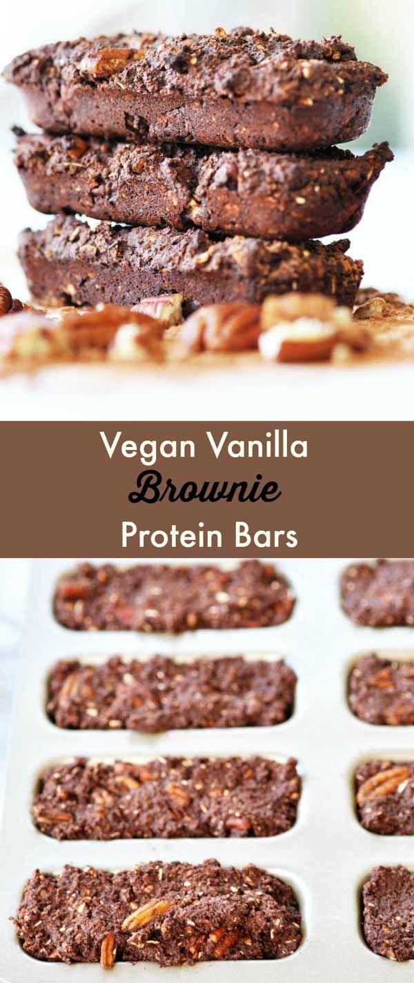 Vegan Vanilla Brownie Protein Bars