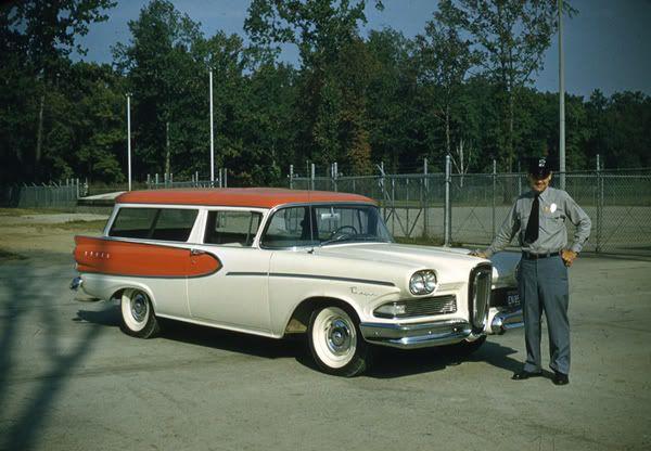 1958 Ford Edsel Roundup 2 Door Wagon Voiture Vintage Voiture Auto