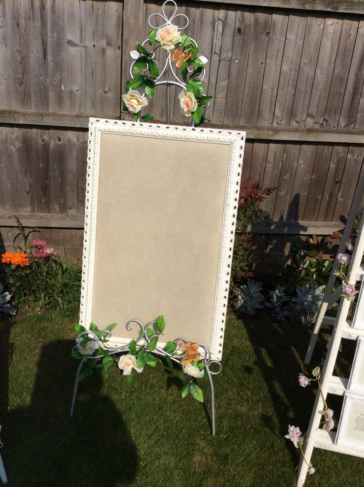 Floor standing easel hire £15 board £10 ideal to hold signtable plan menu etc cambridgeshire