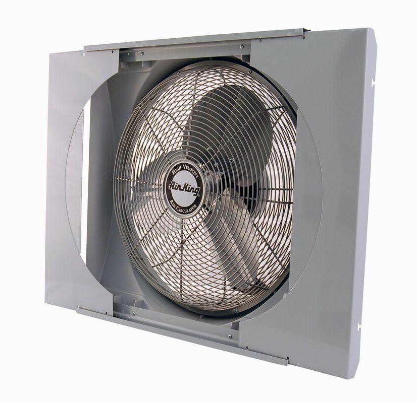 Air King 9166 Na 26 3 4 Inch 3560 Cfm Whole House Window Mounted Fan With Storm Guard Housing From The Window Fans Collection Ventingdirect Com Window Fans House Window Fan