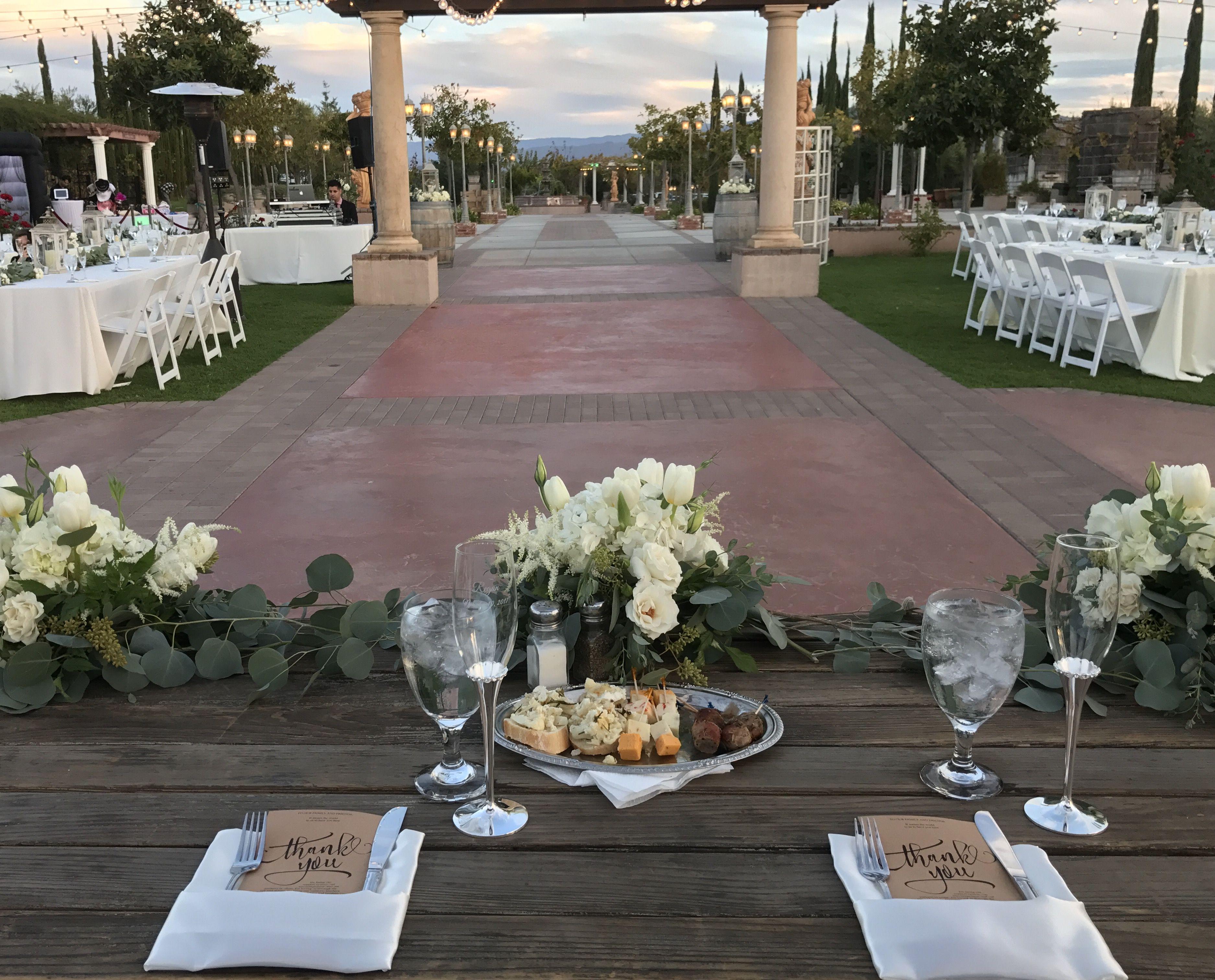 Wooden Sweetheart Table. Temecula Winery. Wedding