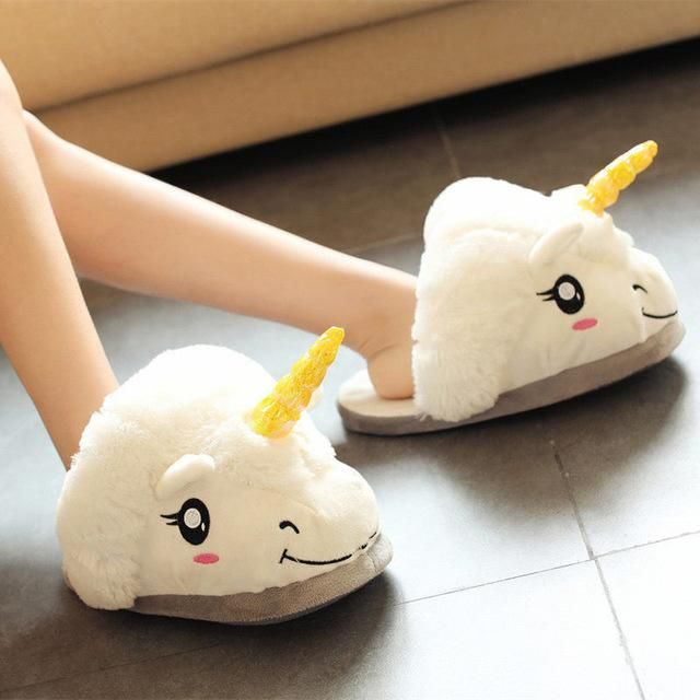 Lovely Cartoon Home Slippers Warm Soft PP Cotton Plush Indoor - Dessiner Maison D Gratuit
