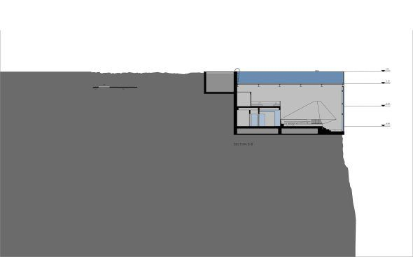 Casa Brutale nos da agua de muro a muro y concreto colocado a modo de…