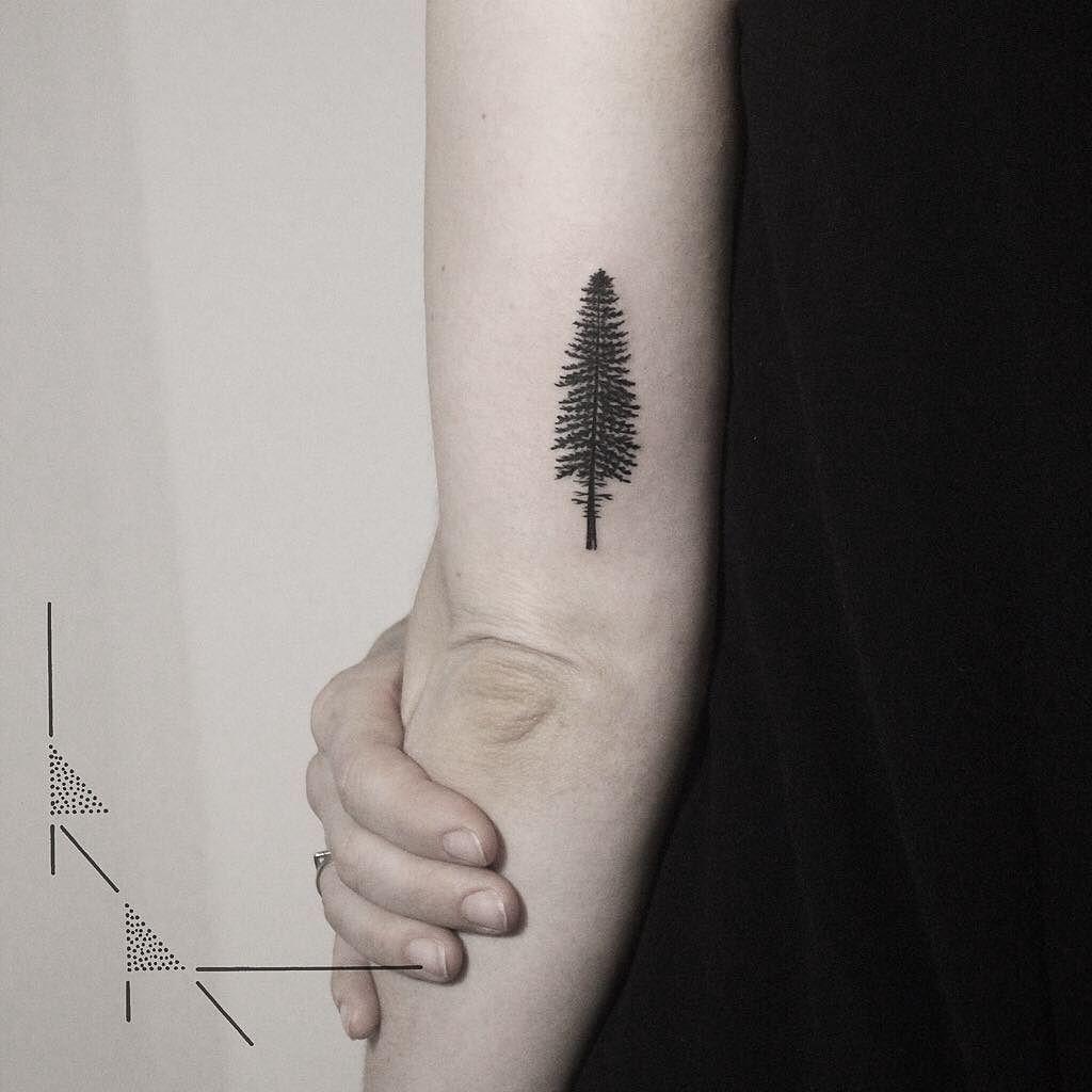 Thanks Anne!  #rachainsworth #berlintattoo #neukölln #treetattoo #naturetattoo #pinetree