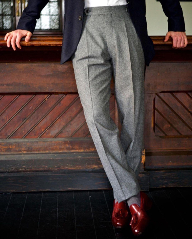 Men's grey flannel trousers  versatile grey flannel slacks  Inspiration  Pinterest  Grey