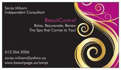 Pin By Sonja Milsom On Beauticontrol Cards Business Custom