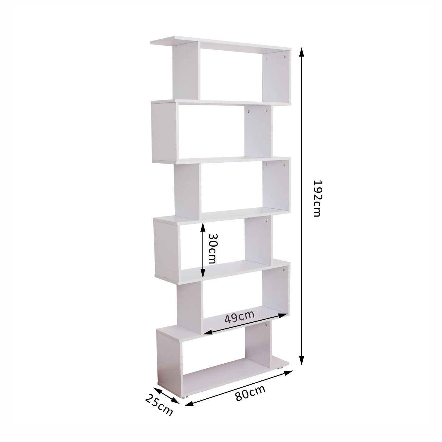 Wooden S Shape Storage Bookcase White – Ideal Home Show Shop | Home ...