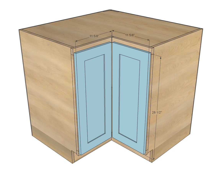 "Ana White | Build a Easier 36"" Corner Base Kitchen Cabinet ..."