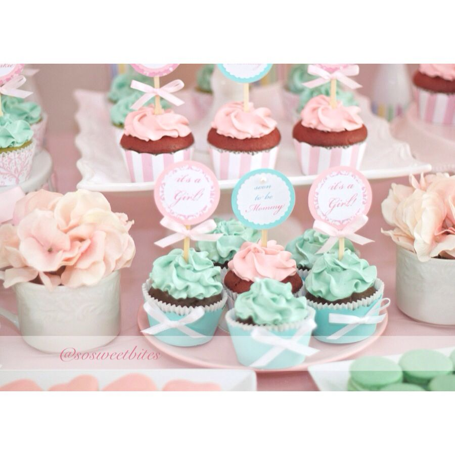 Baby Shower Sweet Table Ideas a darling dessert display for a 1st birthday with gorgeous captures by lestelle Cupcakes For Pink And Tiffany Green Inspired Baby Shower Dessert Table For Diy Ideas