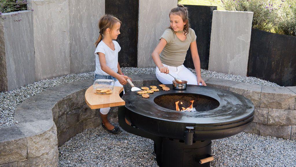 Feuerherd Feuerschale Kinder Am Kochen