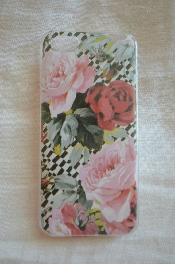 Custom Floral and Gold Phone Case