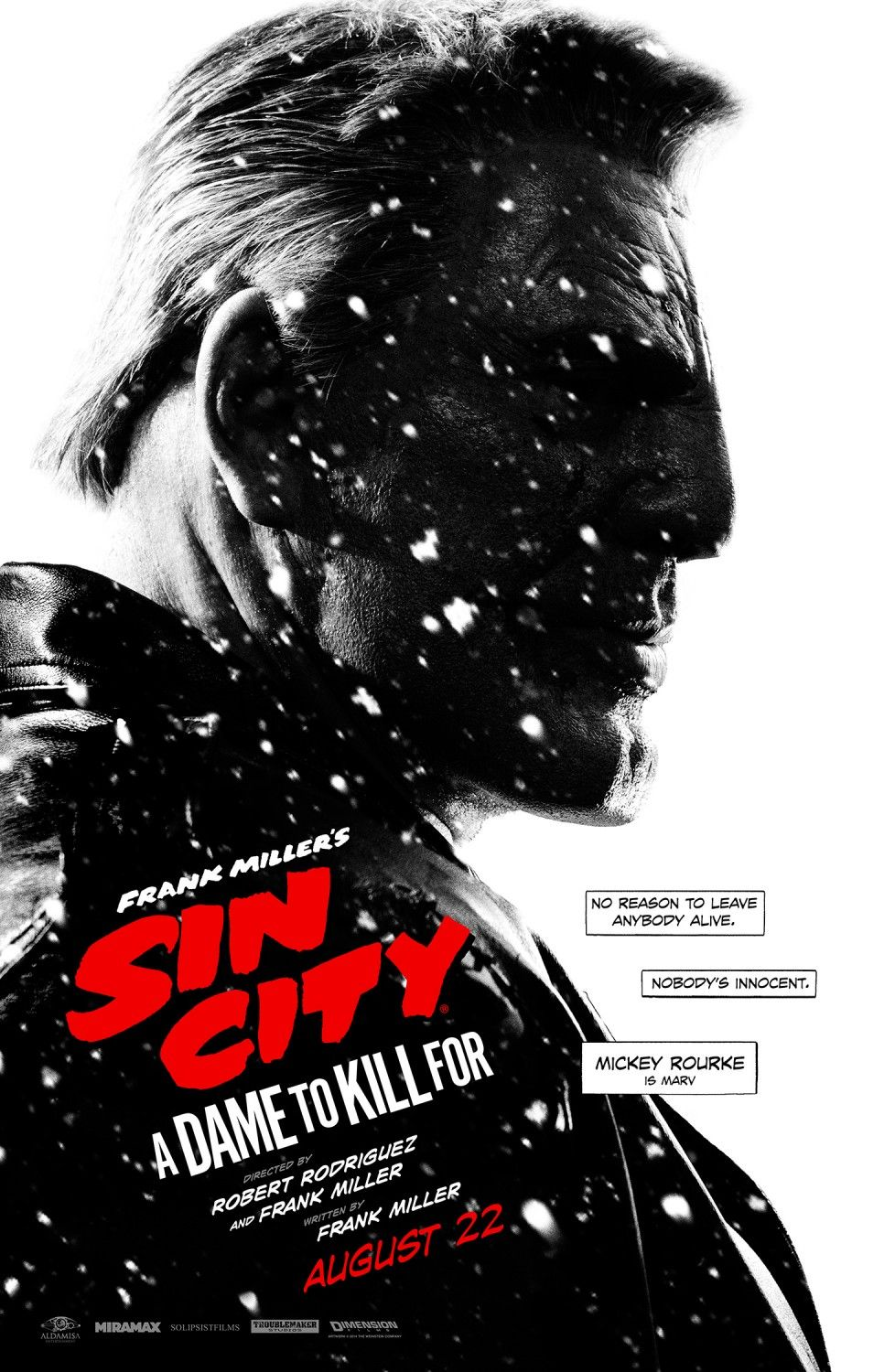 Sin City A Dame To Kill For Marv Poster Sin City Movie Sin City Movie Posters