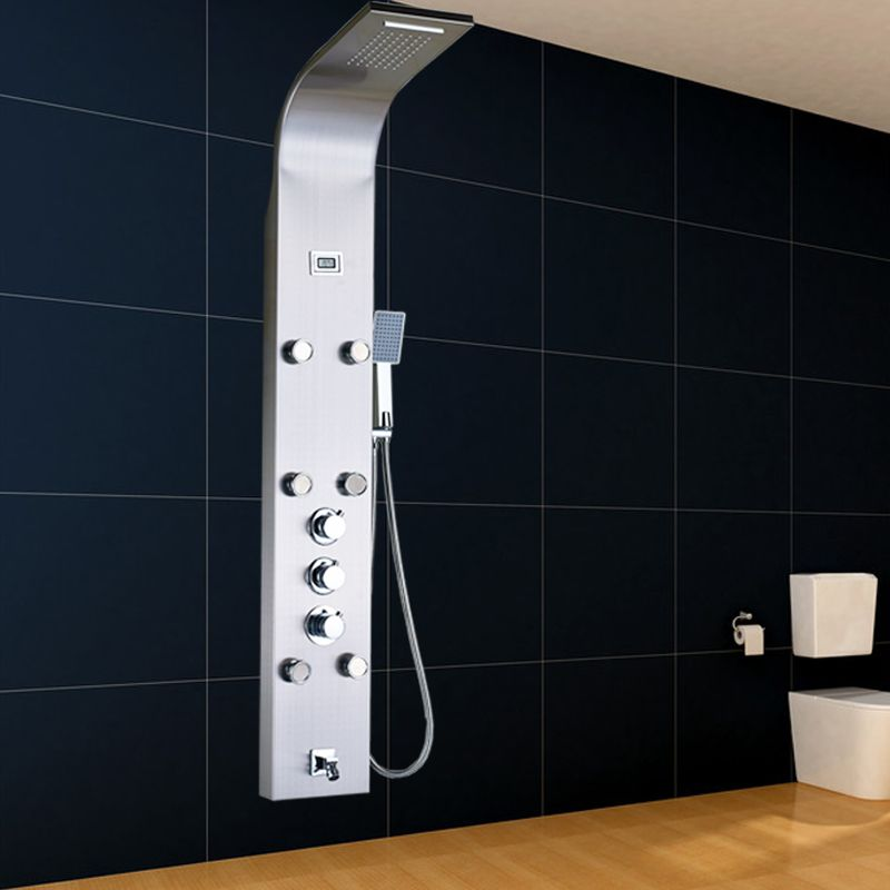 $254.15 | Buy Luxury Thermostatic Mixer Shower Faucet Bath Shower Column  Digital Temperature Display Shower Panel