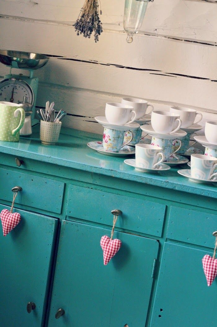 Loving the color of this old cupboard!