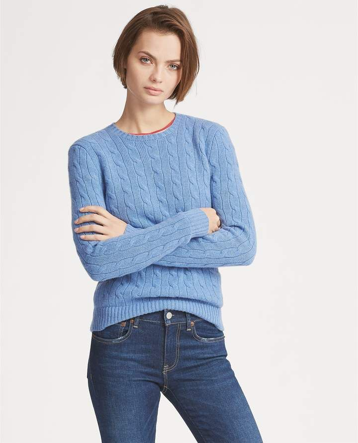 02642e4f03 Ralph Lauren Cable-Knit Cashmere Sweater | Products | Cable Knit ...