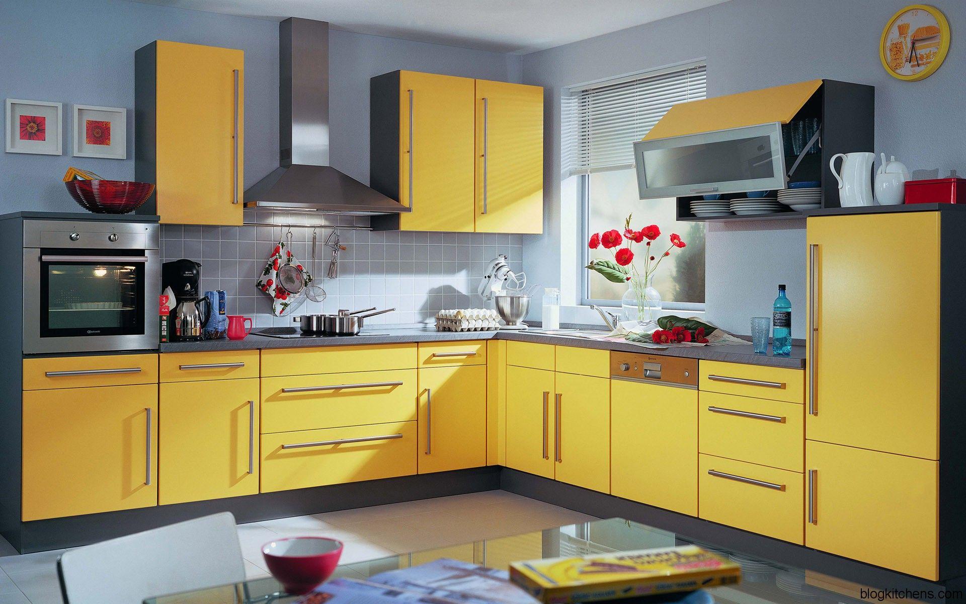 15+ Cozinhas Amarelas Lindas e Criativas | Kitchen design, Kitchens ...