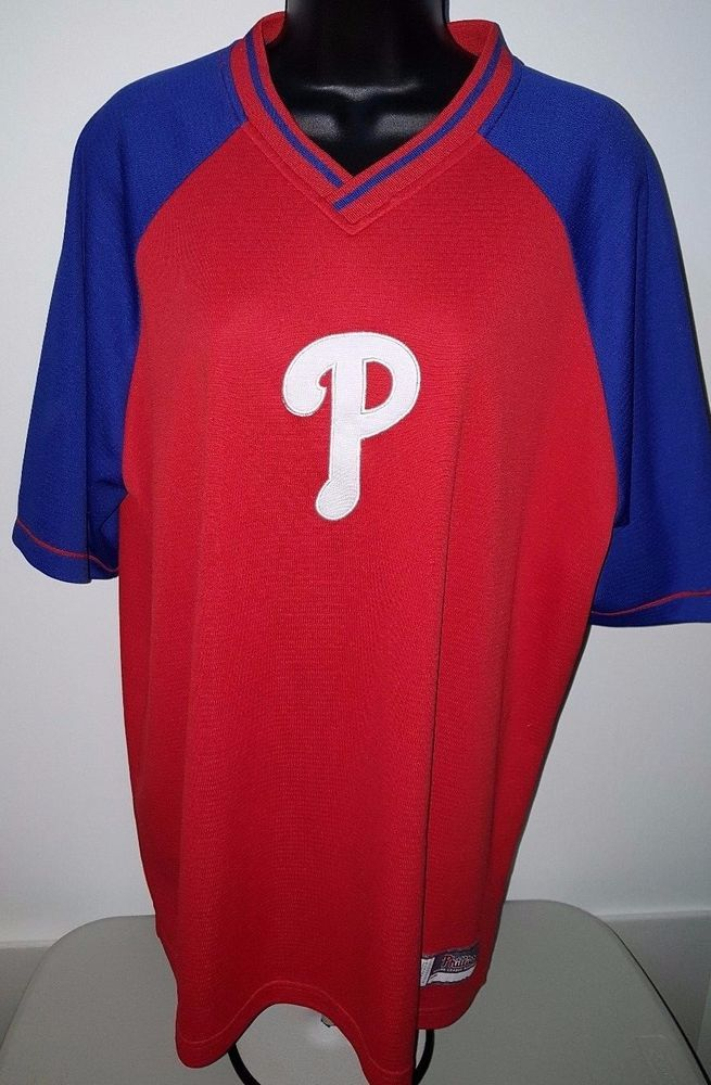 Genuine Merchandise Unisex Philadelphia Phillies Jersey Style Shirt Size XL #GenuineMerchandise #PhiladelphiaPhillies