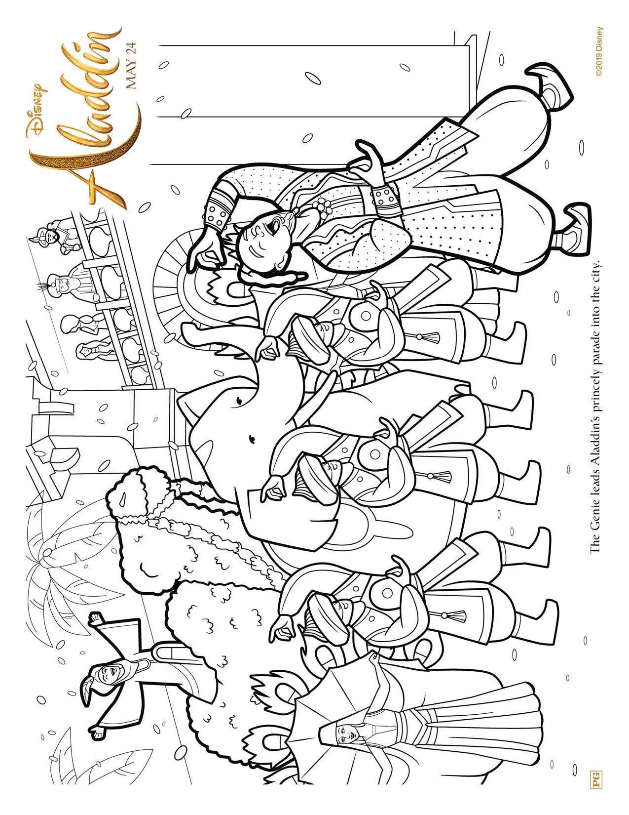 Aladdin 2019 Coloring Pages | Coloring Aladdin, Abu, Jasmine ... | 1650x1275
