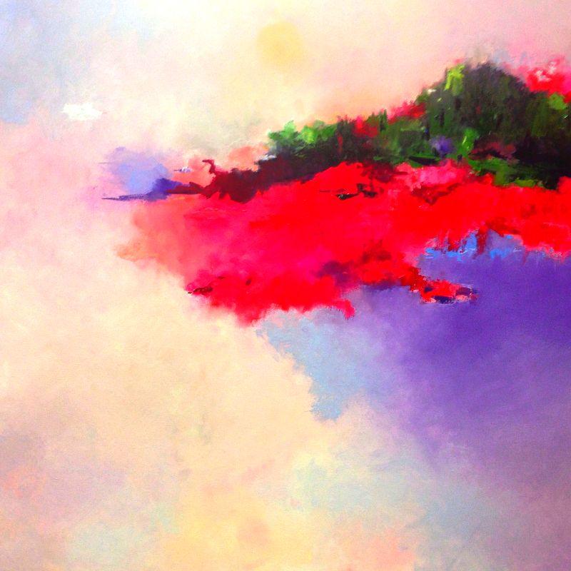 Cosmic Sunrise by Carol Hopper Oil ~ 36 x 36