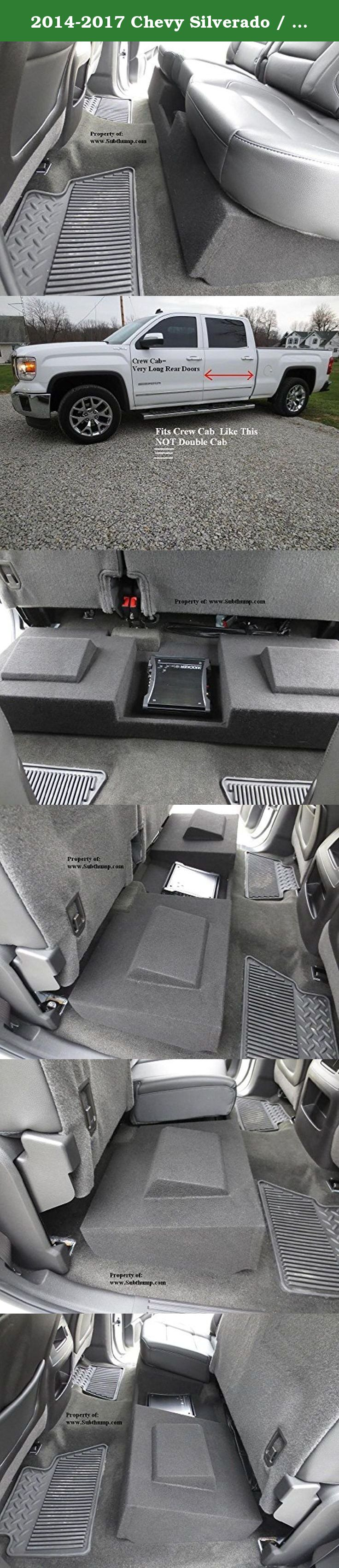 2014 2017 Chevy Silverado Gmc Sierra Crew Cab Du Subwoofer 2015 Rear Junction Block Dual 10 Downfire With Amp Space