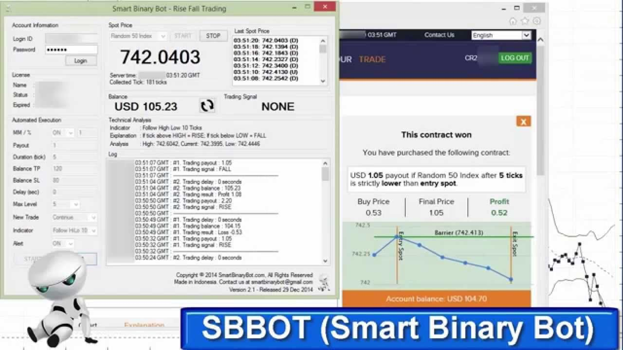Sbbot Smart Binary Bot Real Acc Binary Apps Easy 20 Persen In
