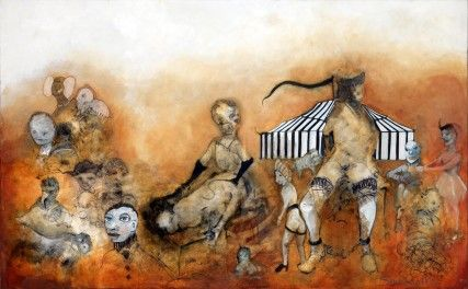 Visions of BDSM oil painting by Sam Roloff