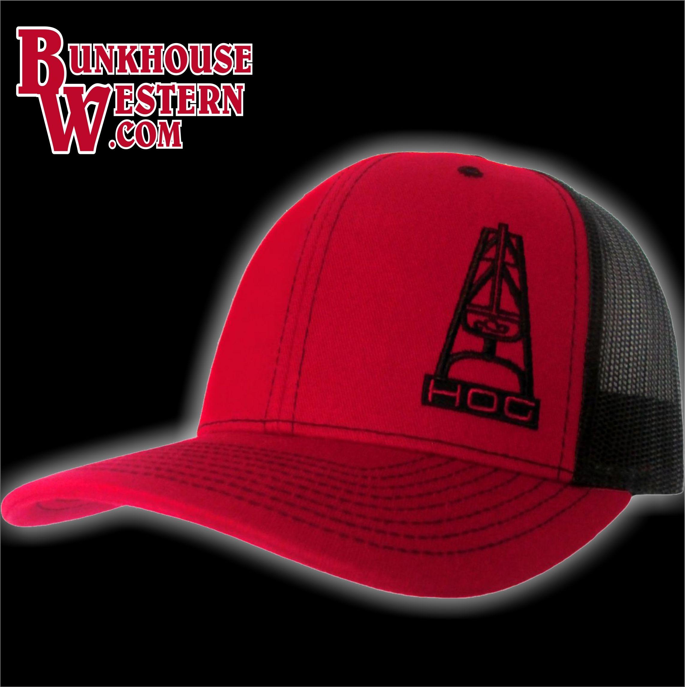 Hooey Oil Gear Hog Red Trucker Hat Oil Field Worker