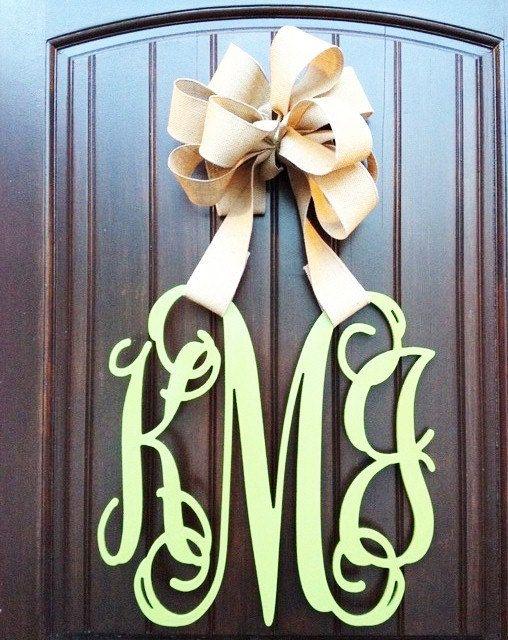 26 INCH Wooden monogram Wall Letters Wedding by MonogramDecorNest, $44.50