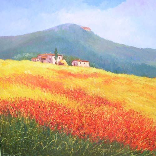 Toscana   Deodato Arte Gallery Milan   Dipinti di paesaggi toscani ...