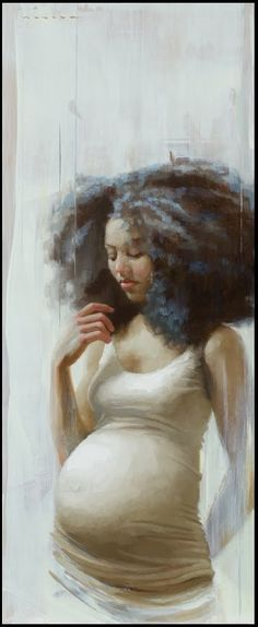 Image result for pregnant black woman art