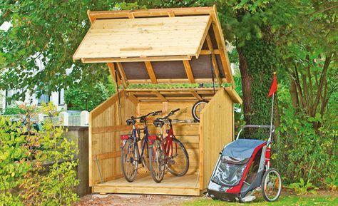 fahrradbox garage pinterest fahrradbox fahrradschuppen und spiele f r drau en. Black Bedroom Furniture Sets. Home Design Ideas