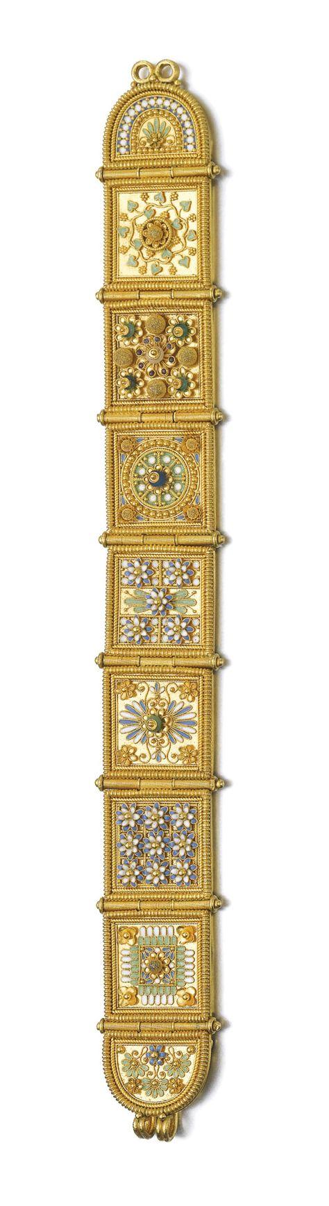 Gold and gem set bracelet giacinto melillo late th century the