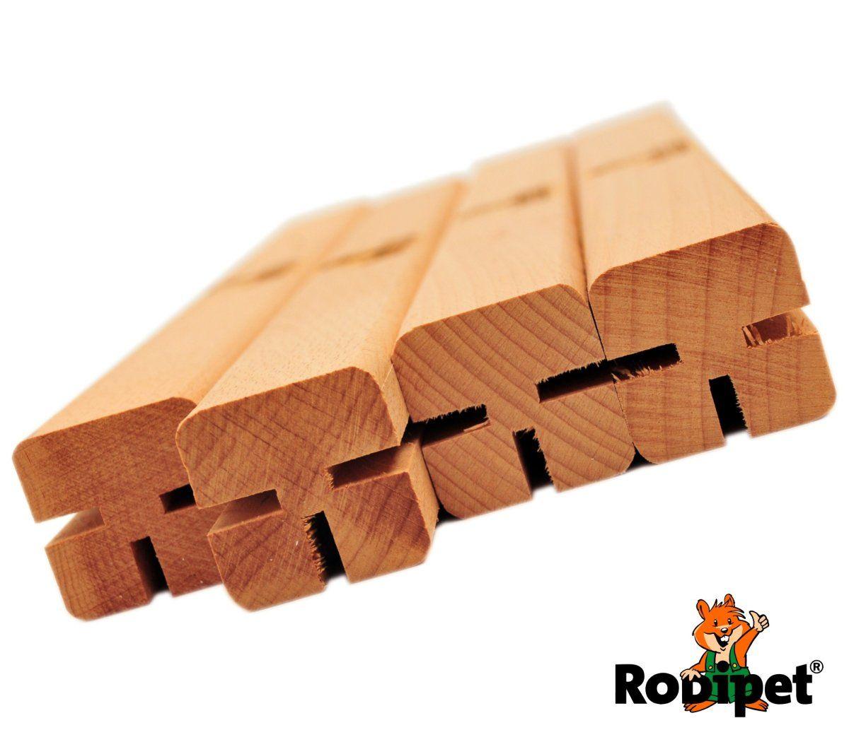 Rodipet Auslaufpfosten 4x Buchenholz Pfosten Holz