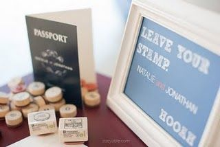 Stamps could make a guest book fun!