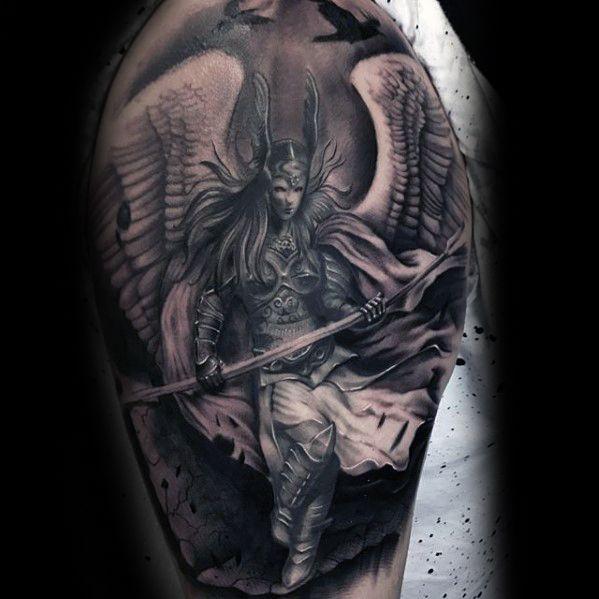 60 valkyrie tattoo designs for men norse mythology ink ideas pinterest. Black Bedroom Furniture Sets. Home Design Ideas