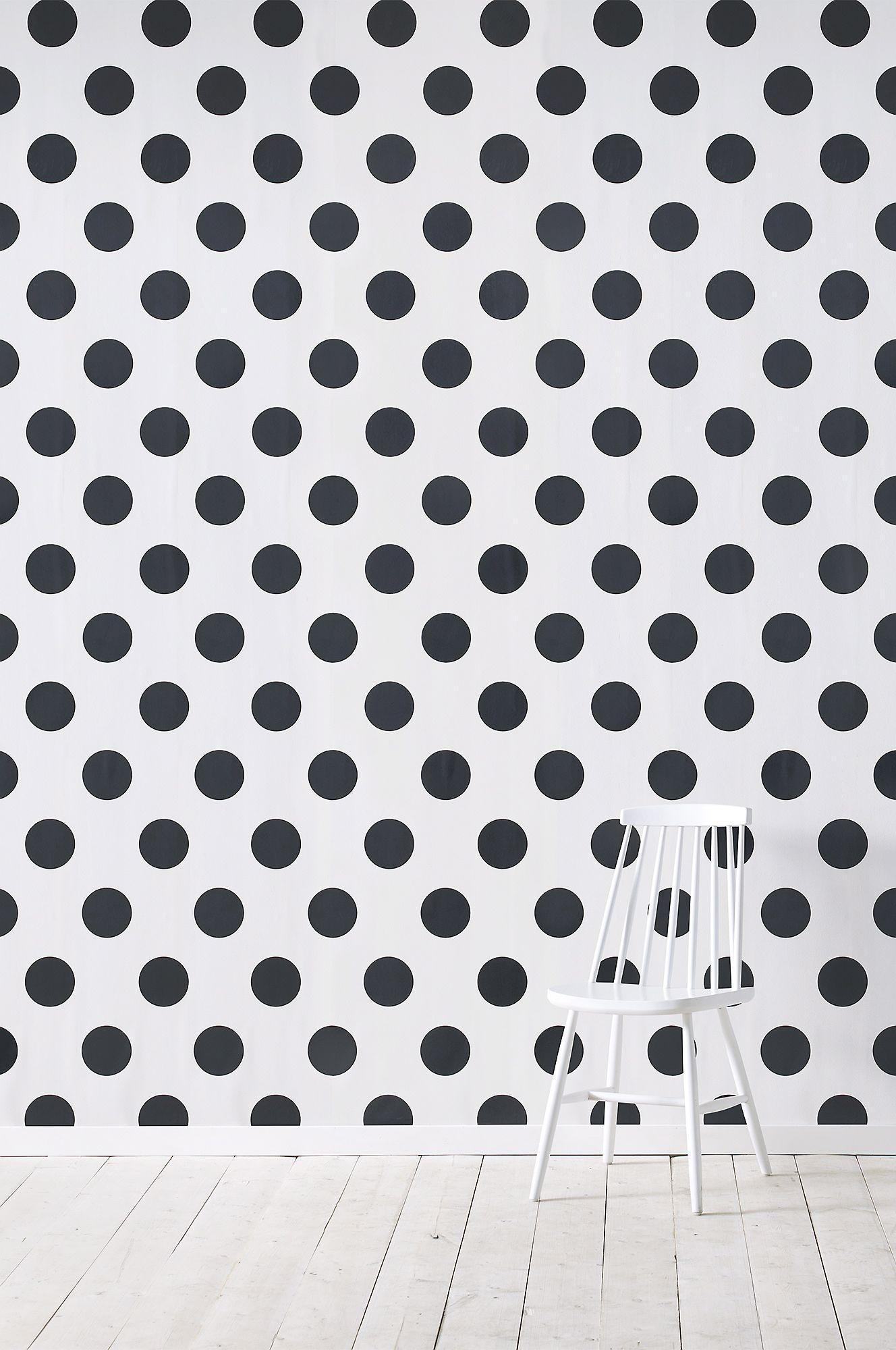 Black and white polka dots. Polka dots wallpaper, Polka