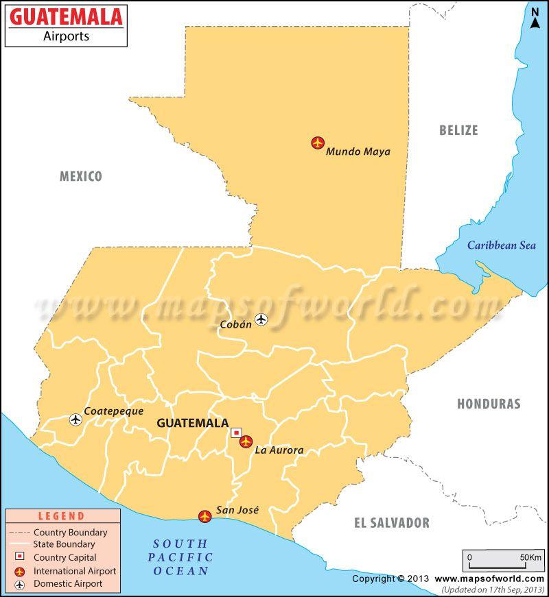 Guatemala Airports Map. +1-844-9-UNPLUG or visit ... on
