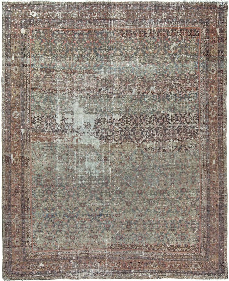 Antique Persian Mahal Distressed Rug 16 9 X20 10 With Images Distressed Rugs Rugs Handmade Area Rugs